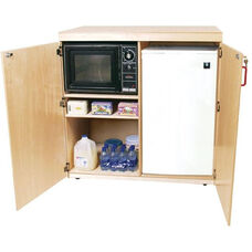 Mobile Food Cart with Easy Movement Casters and Multiple Storage Compartments - Assembled - 42