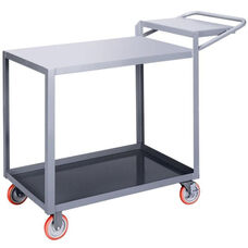 Order Picking 2 Shelf Truck with Flush Top and Writing Shelf - 48