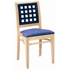 593 Stacking Chair w/ Upholstered Seat - Grade 1