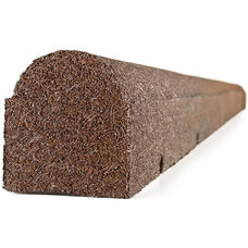Rubberific Round Top Landscaping Timber - Redwood - 6