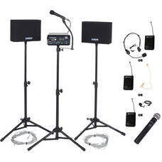 Voice Carrier with Wired 50 Watt Speakers and Wireless Microphone - 30
