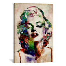 Watercolor Marilyn Monroe by Michael Tompsett Gallery Wrapped Canvas Artwork - 18