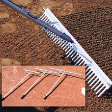 Aluminum Grooming and Maintenance Large-Tooth Rake
