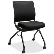 The HON Company Perpetual Nesting Flex-back Armless Chair - Black