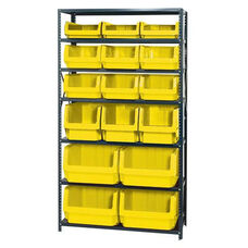 Magnum Shelving Unit with 16 Bins - Yellow