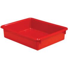 Solid Red Plastic Letter Tray - 10.5