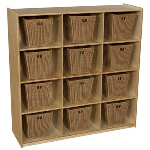 ... Our Tuff Gloss UV Finished Deep Cubby Storage Unit With Twelve Cubbies    Assembled