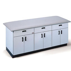 All Purpose Treatment Table with Three Fully Enclosed Cabinets