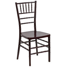 "HERCULES PREMIUM Series Mahogany Resin Stacking Chiavari Chair with <span style=""color:#0000CD;"">Free </span> Cushion"