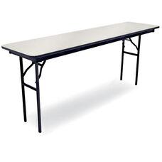 96''D Rectangular Laminate Seminar Table with Locking H-Style Legs