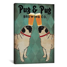 Pug & Pug Brewing Co. by Ryan Fowler Gallery Wrapped Canvas Artwork