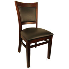 Wood Upholstered Back Chair