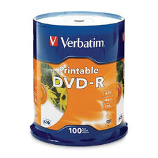 Verbatim White Inkjet Printable Dvd-R Spindle - Pack Of 100