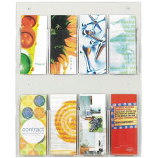 Clear2c™ Eight Pamphlet Display with Break Resistant Plastic Pockets - Clear