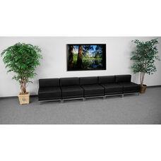 HERCULES Imagination Series Black LeatherSoft Lounge Set, 5 Pieces