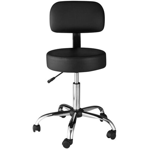 Our OneSpace Medical Stool with Back Cushion - Black is on sale now.
