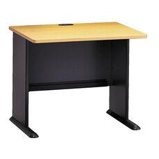 Series A 36'' W Desk - Beech and Slate Gray