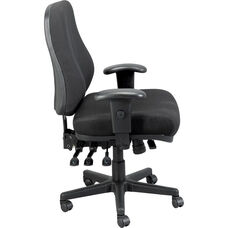 24/7 Mid Back 26.8'' W x 21'' D x 38.5'' H Adjustable Height Multi Function Task Chair - Black
