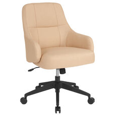 Dinan Home and Office Upholstered Mid-Back Chair in Beige Fabric