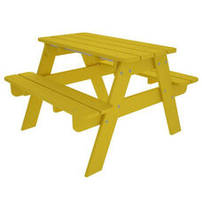 POLYWOOD® Kids Collection Picnic Table - Vibrant Lemon