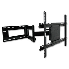 Lorell Large Double Articulated Mount - 150lb Capacity - Black