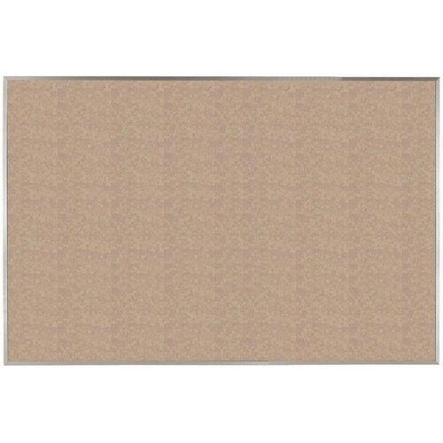 VIC Cork Bulletin Board with Satin Anodized Aluminum Frame - Buff - 48