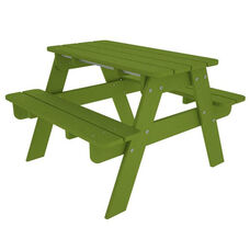 POLYWOOD® Kids Collection Picnic Table - Vibrant Lime