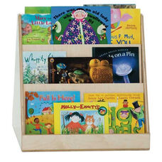 Tot Size 2-Sided Book Display with 3 Shelves on Each Side - Assembled - 24