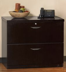 Mira Optional Top for Two Drawer Lateral File - Espresso