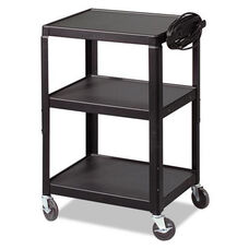 BALT® Adjustable Black Steel Utility Cart - 24