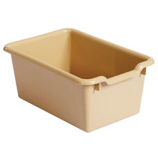 Versatile Scoop Front Plastic Storage Bins - Sand Colored - 11.5