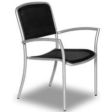 Hanna Stacking Chair with Polyethylene Weave and Arms