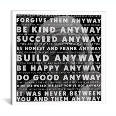 Mother Teresa Quote by iCanvas Gallery Wrapped Canvas Artwork