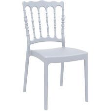 Napoleon Outdoor Resin Stackable Wedding Chair - Silver