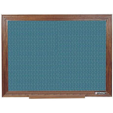 114 Series Wood Frame Tackboard - Designer Fabric - 48