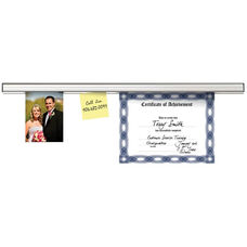 Advantus 6' Automatically Adjustable Grip-A-Strip with Mounting Hardware - Satin