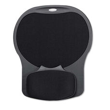 Fellowes® Easy Glide Gel Mouse Pad w/Wrist Rest - 10 x 12 X 1 1/2 - Black