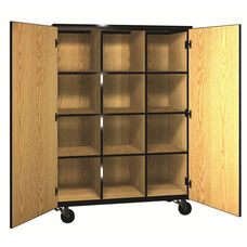 Denali 1000 Series Mobile Cubicle Storage w/ Doors & 9 Adjustable Shelves