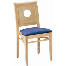 595 Stacking Chair w/ Upholstered Seat - Grade 1