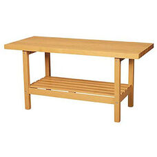 Open-Style Two-Station Wood Workbench