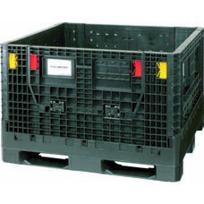 Black Plastic Collapsible Storage Container 48