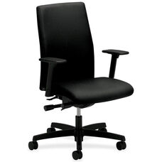 The HON Company Mid-Back Executive Chair with Adjustable Arms - Black