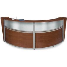 Marque Plexi Double Reception Station - Cherry