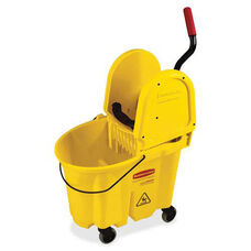 Rubbermaid Commercial Products WaveBrake Down Press Combo Mop Bucket - 16.63