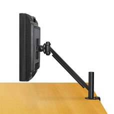Fellowes® Desk-Mount Arm for Flat Panel Monitor - 14 1/2 x 4 3/4 x 24 - Black