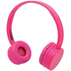 Pink Kidzphonz Headset with In-Line Microphone and AudioSafe™ Adapter Cable