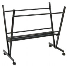 Black Baked Enamel Finished Steel Print Rack