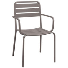 Vista Stackable Outdoor Aluminum Arm Chair - Earth