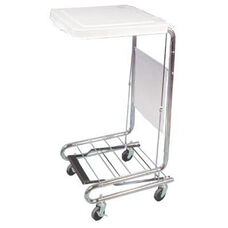 Mobile Hamper Stand with Foot Pedal