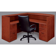Fairplex Right or Left Reception Desk - Cognac Cherry